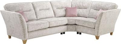 Lebus Paris 2 Corner 1 High Back Fabric Sofa