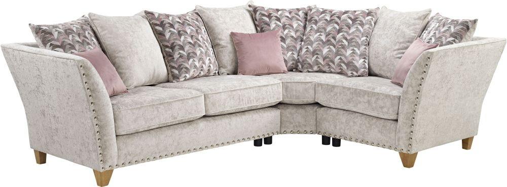 Lebus Paris 2 Corner 1 Pillow Back Fabric Sofa