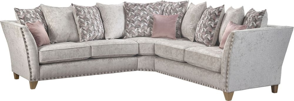 Lebus Paris 2 Corner 2 Pillow Back Fabric Sofa
