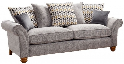 Lebus Vegas 3 Seater Fabric Sofa
