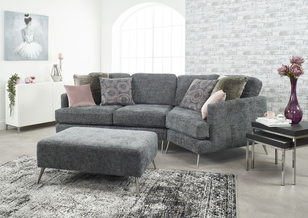 lebus venice cozy corner fabric sofa with footstool cfs furniture uk