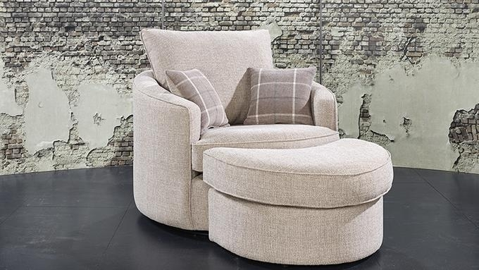 Lebus Lucy Fabric Twister Chair with Half Moon Stool