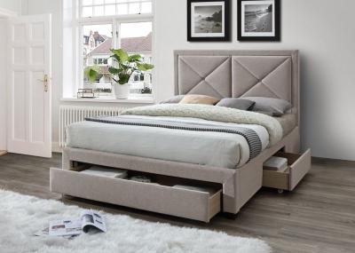 Limelight Cezanne Mink Velvet 3 Drawer Storage Bed