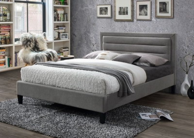 Limelight Picasso Grey Velvet Bed