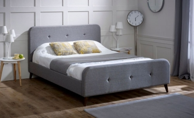 Limelight Tucana Ash Grey Fabric Bed