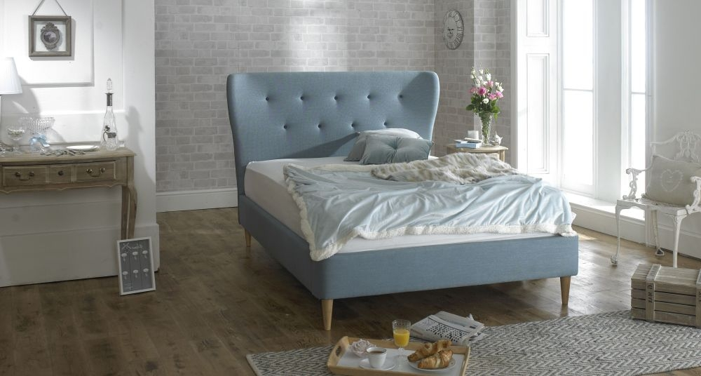 Limelight Aurora Blue Fabric Bed