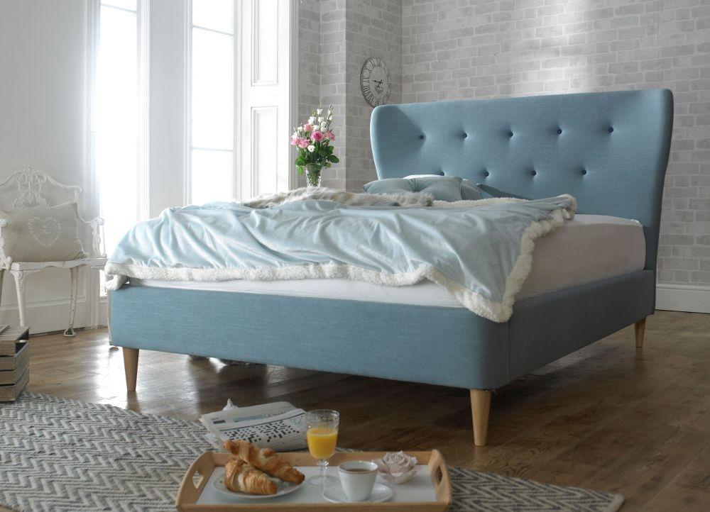 Limelight Aurora Duck Egg Blue Fabric Bed