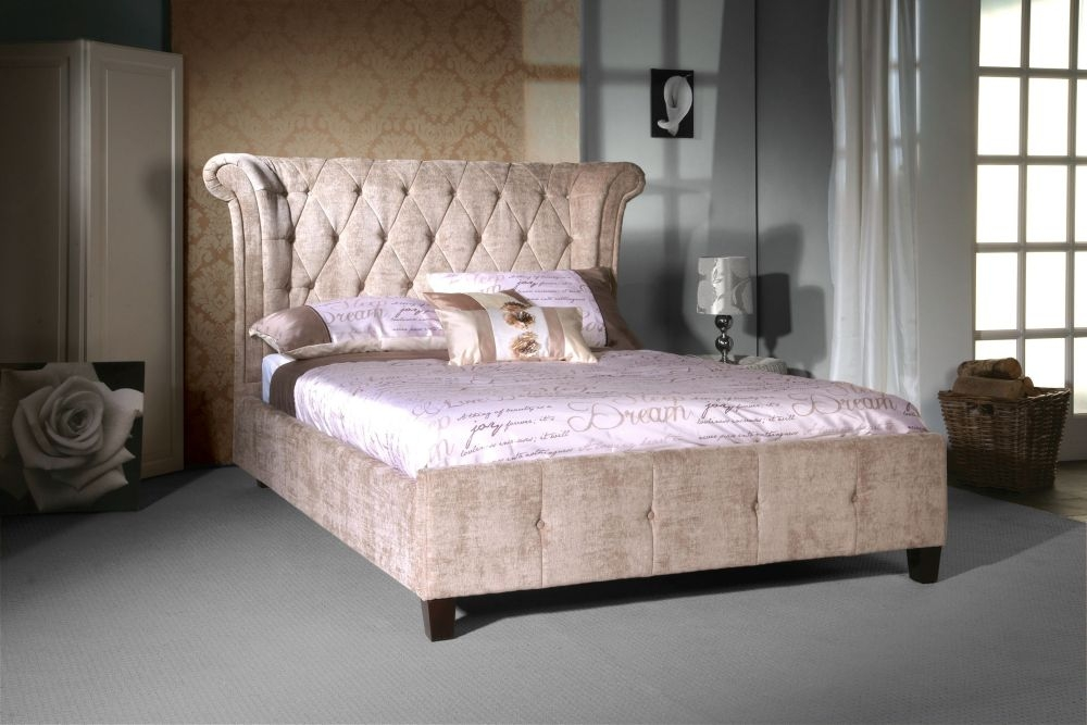 Buy Limelight Epsilon Mink Velvet Fabric Bed Online Cfs Uk