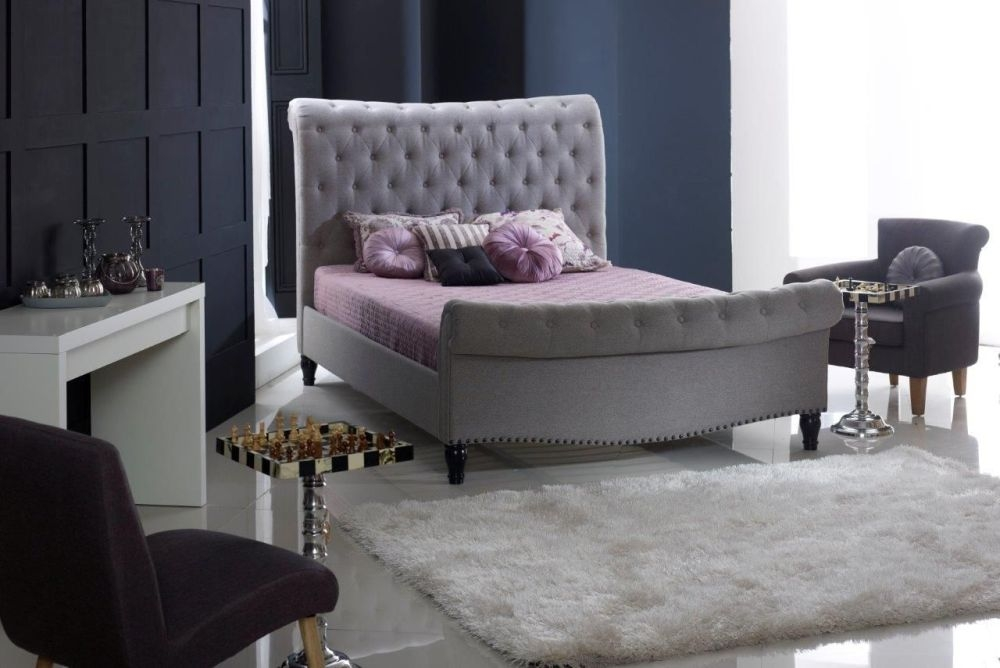Limelight Larrisa Grey Fabric Bed