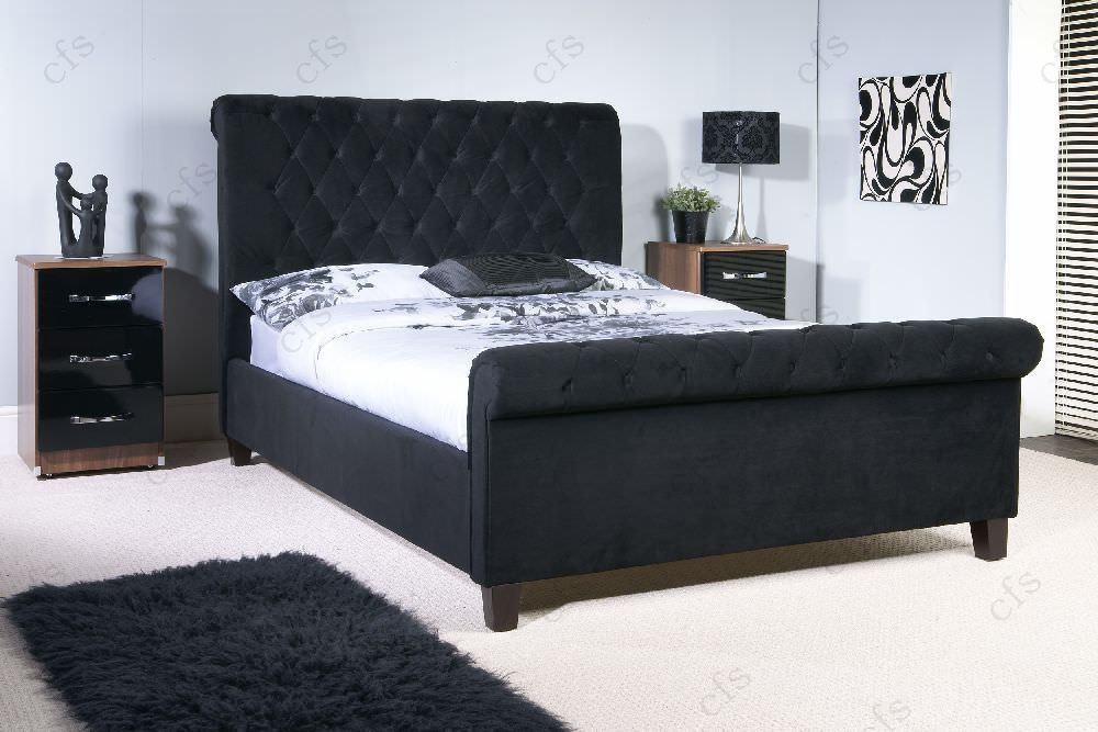 Limelight Orbit Black Fabric Bed