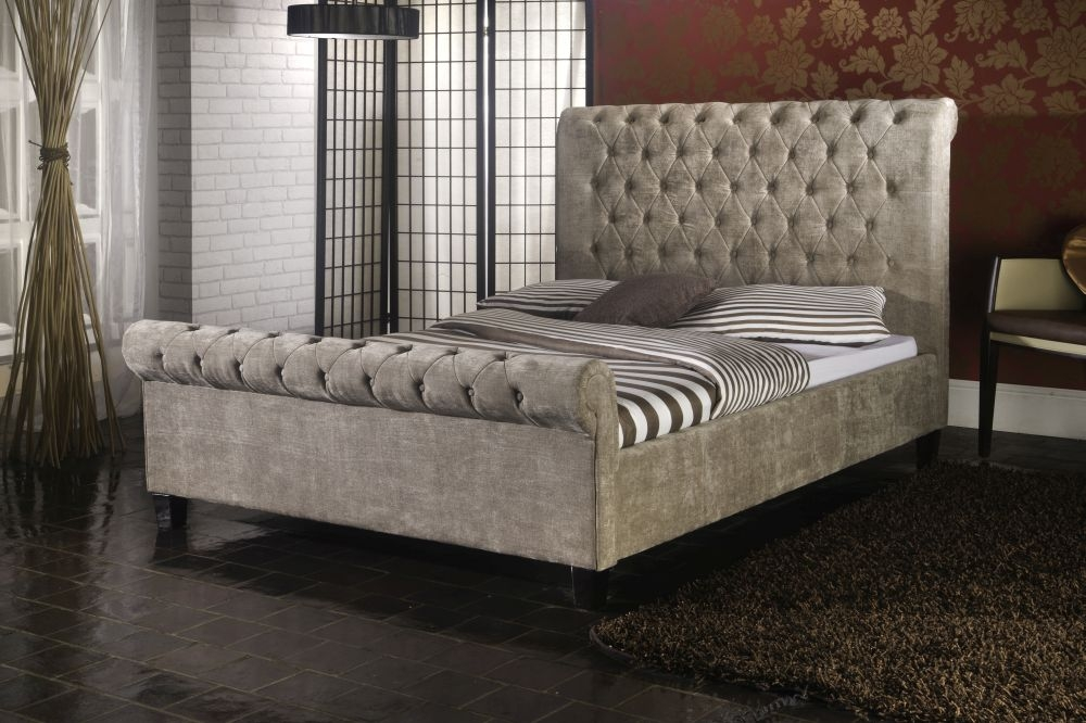 Limelight Orbit Mink Fabric Bed