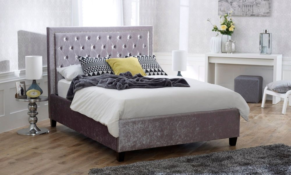 Limelight Rhea Crushed Ice Velvet Bed