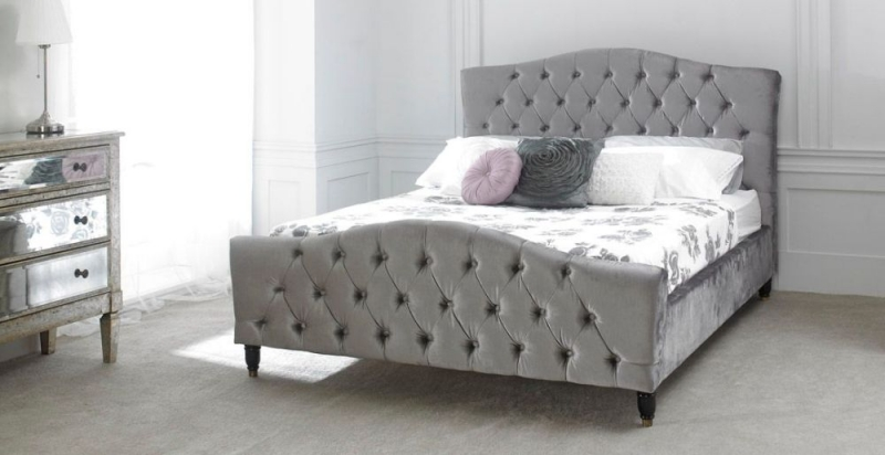 Limelight Phobos Plush Silver Fabric Bed