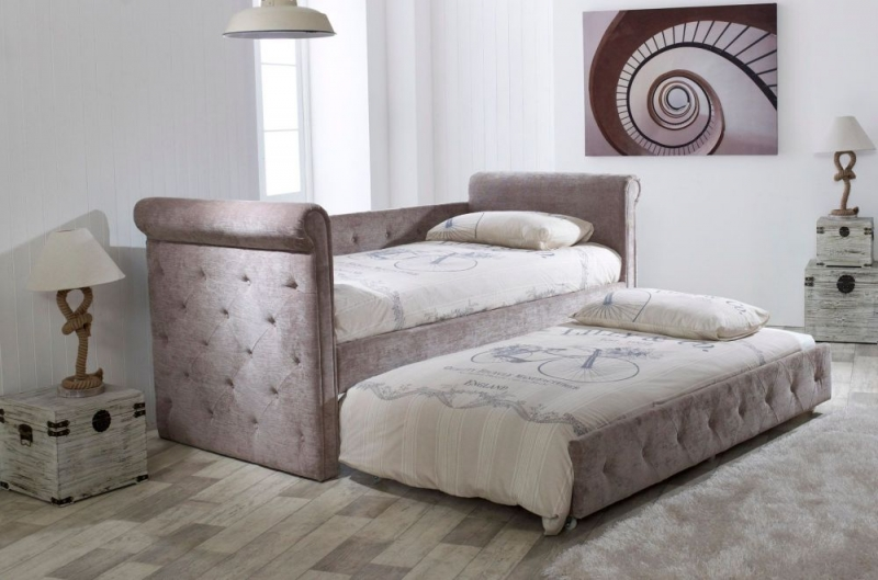 Limelight Zodiac Mink Velvet Day Bed with Guest Bed
