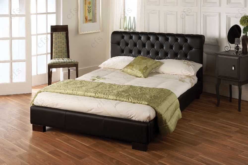 Limelight Aries Black Faux Leather Bed