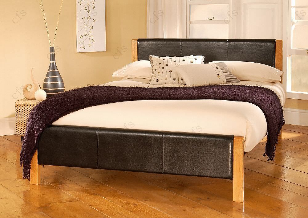 Limelight Mira Black Faux Leather Bed