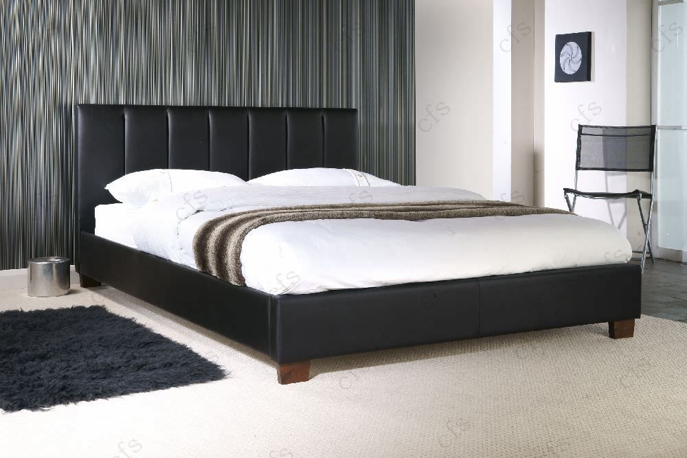 Limelight Pulsar Black Faux Leather Bed