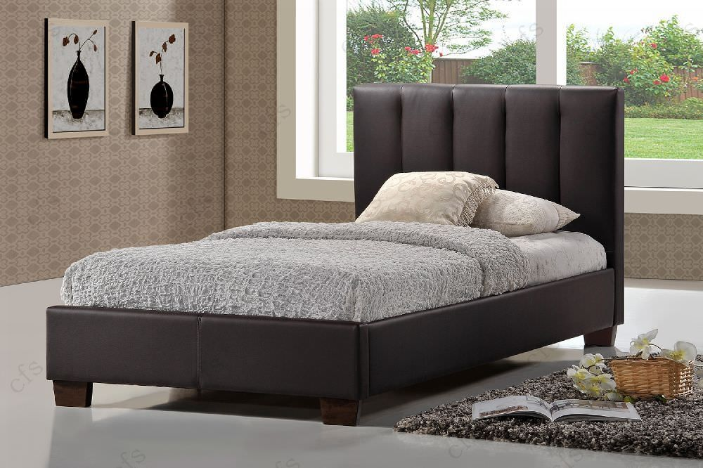 Limelight Pulsar Brown Faux Leather Bed