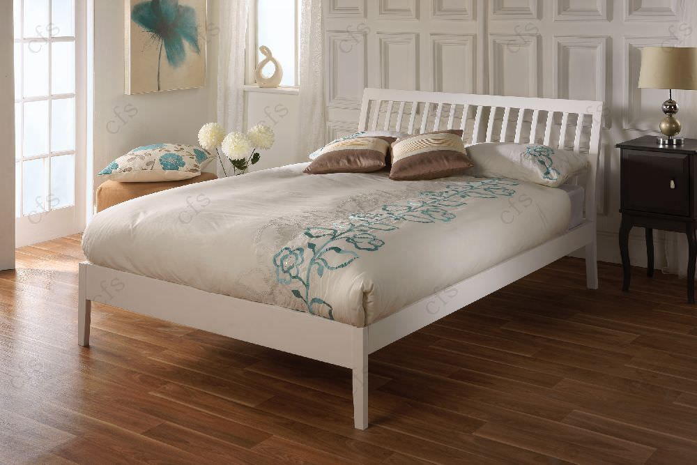 Limelight Ananke White Wooden Bed