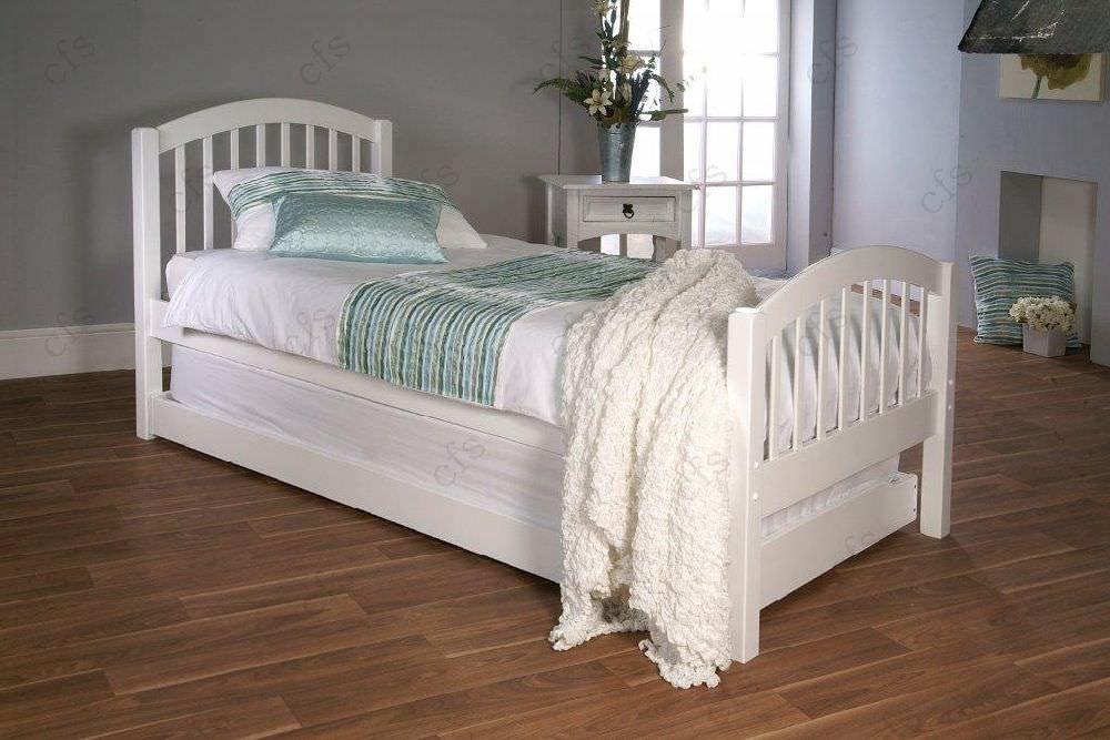 Limelight Despina White Bed - with Guest Bed