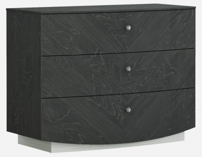 Ada Slate High Gloss 3 Drawer Dresser