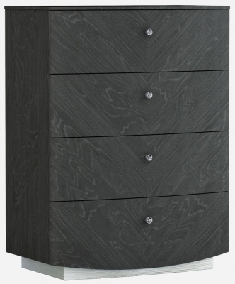 Ada Slate High Gloss 4 Drawer Tall Chest