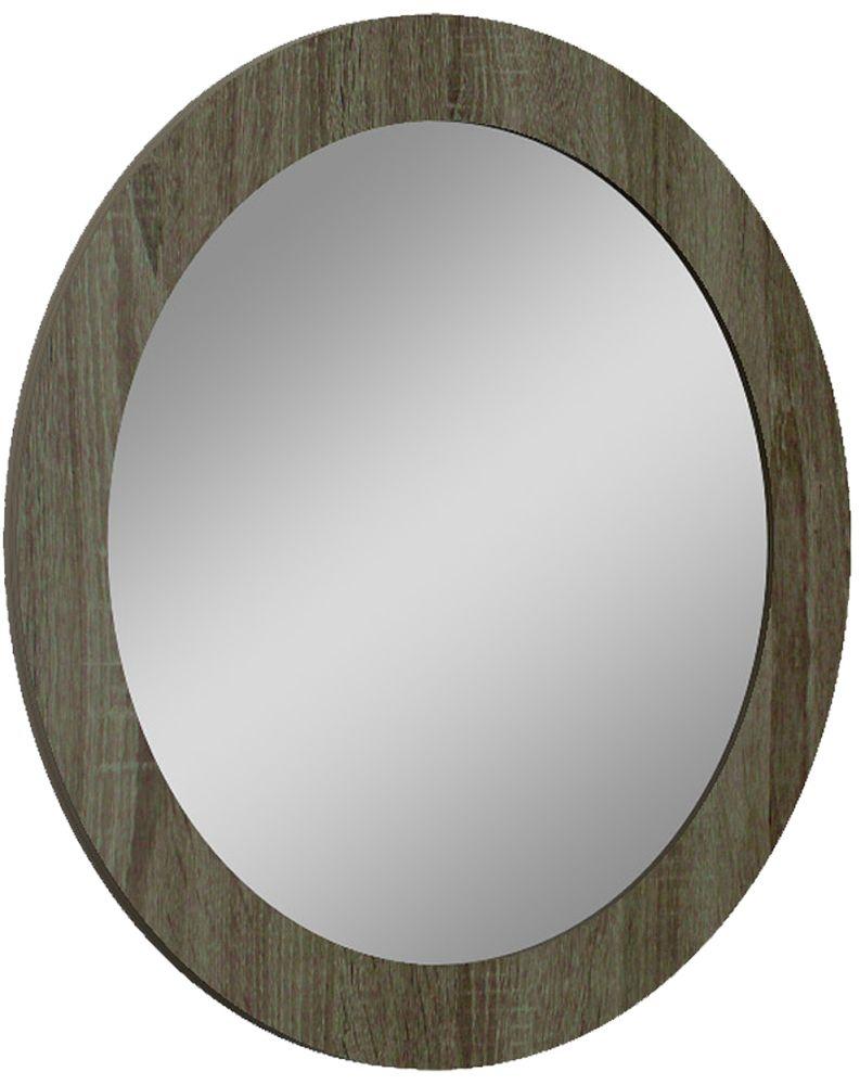 Ada Slate High Gloss Oval Mirror