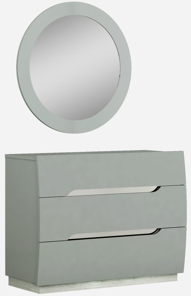 Affinity Cool Grey High Gloss 3 Drawer Dresser