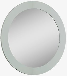 Affinity Cool Grey High Gloss Round Mirror
