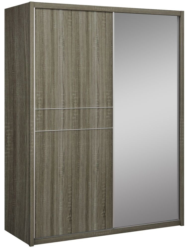 Lansbury Havana Oak 2 Door 1 Mirror Sliding Wardrobe