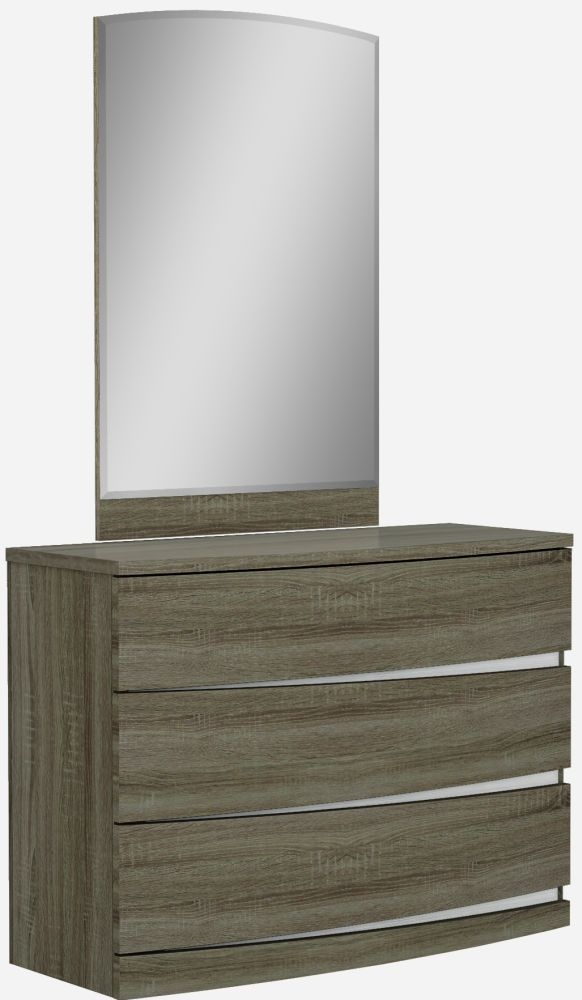 Lansbury Havana Oak 3 Drawer Dresser