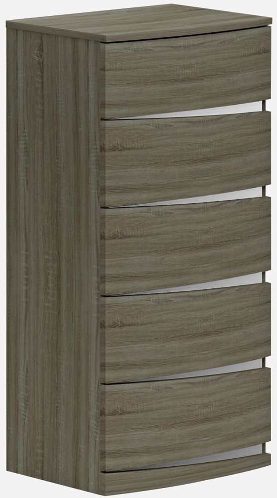 Lansbury Havana Oak 5 Drawer Chest
