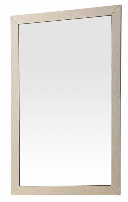 London Cream Walnut High Gloss Bedroom Mirror