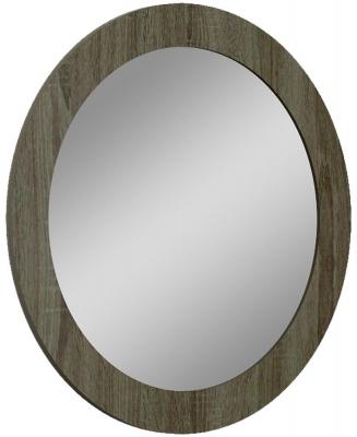 Lutyen Slate Grey High Gloss Oval Mirror