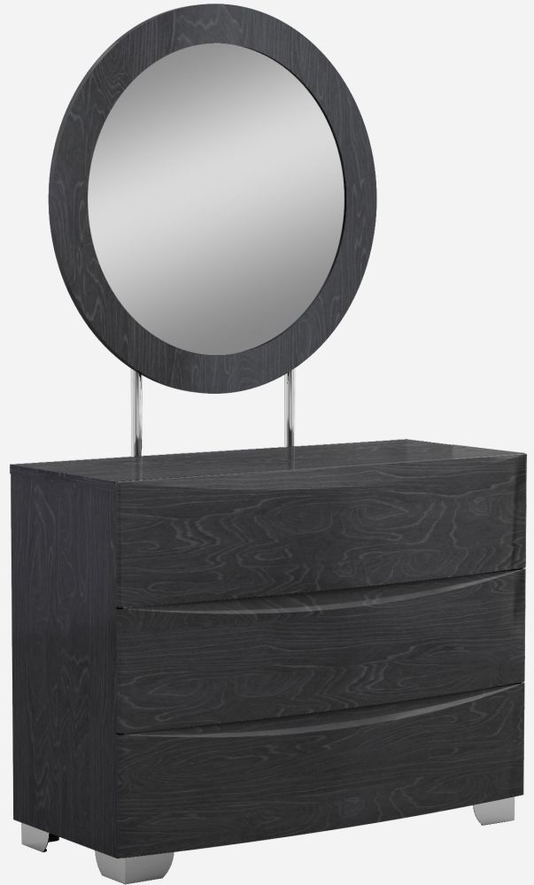 Lutyen Slate Grey High Gloss 3 Drawer Dresser