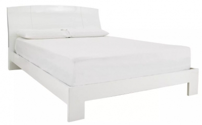 Neptune White High Gloss Bed