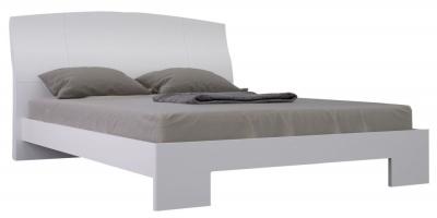Niomi White High Gloss Bed