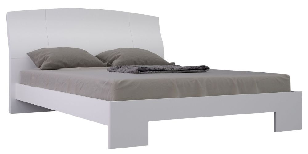 Niomi White High Gloss Bed