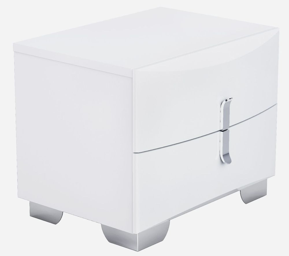 Niomi White High Gloss Bedside Cabinet