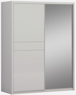 Sabron Cashmere High Gloss 2 Door 1 Mirror Sliding Wardrobe