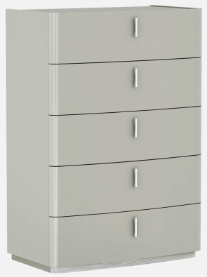 Sabron Cashmere High Gloss 5 Drawer Chest