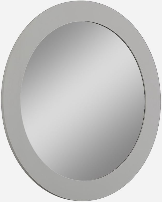 Sabron Cashmere High Gloss Oval Mirror