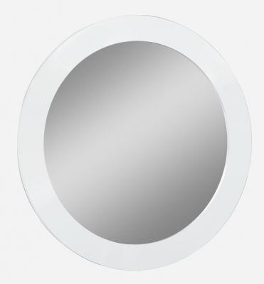 Velour White High Gloss Bedroom Mirror