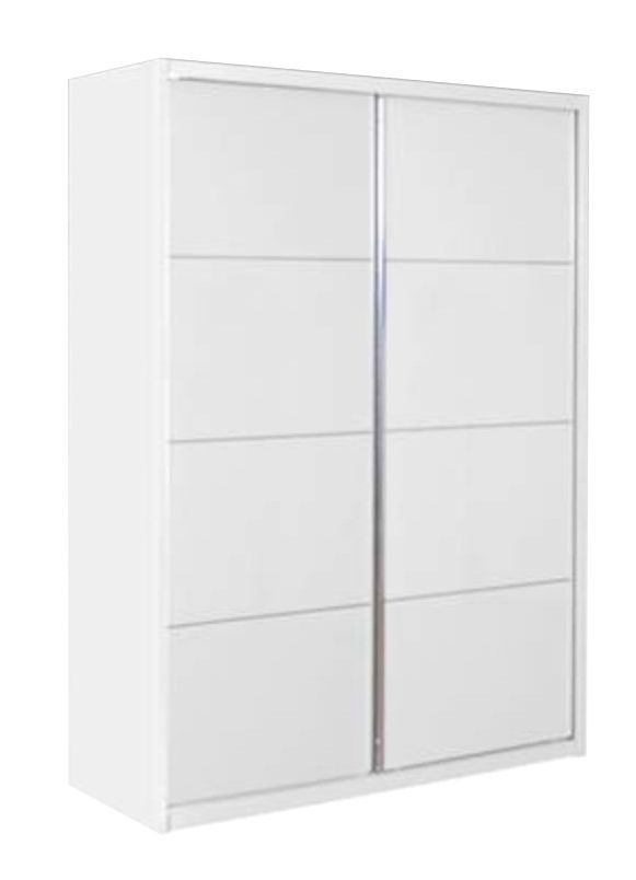 Velour White High Gloss Sliding Wardrobe - 2 Door