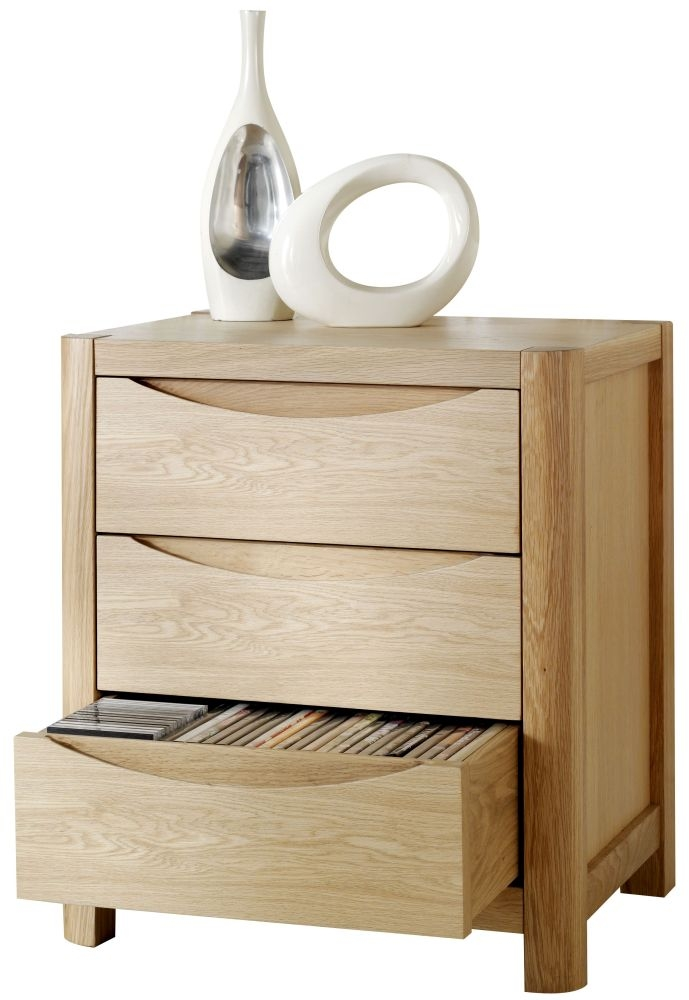 Romana Oak Media Storage Unit