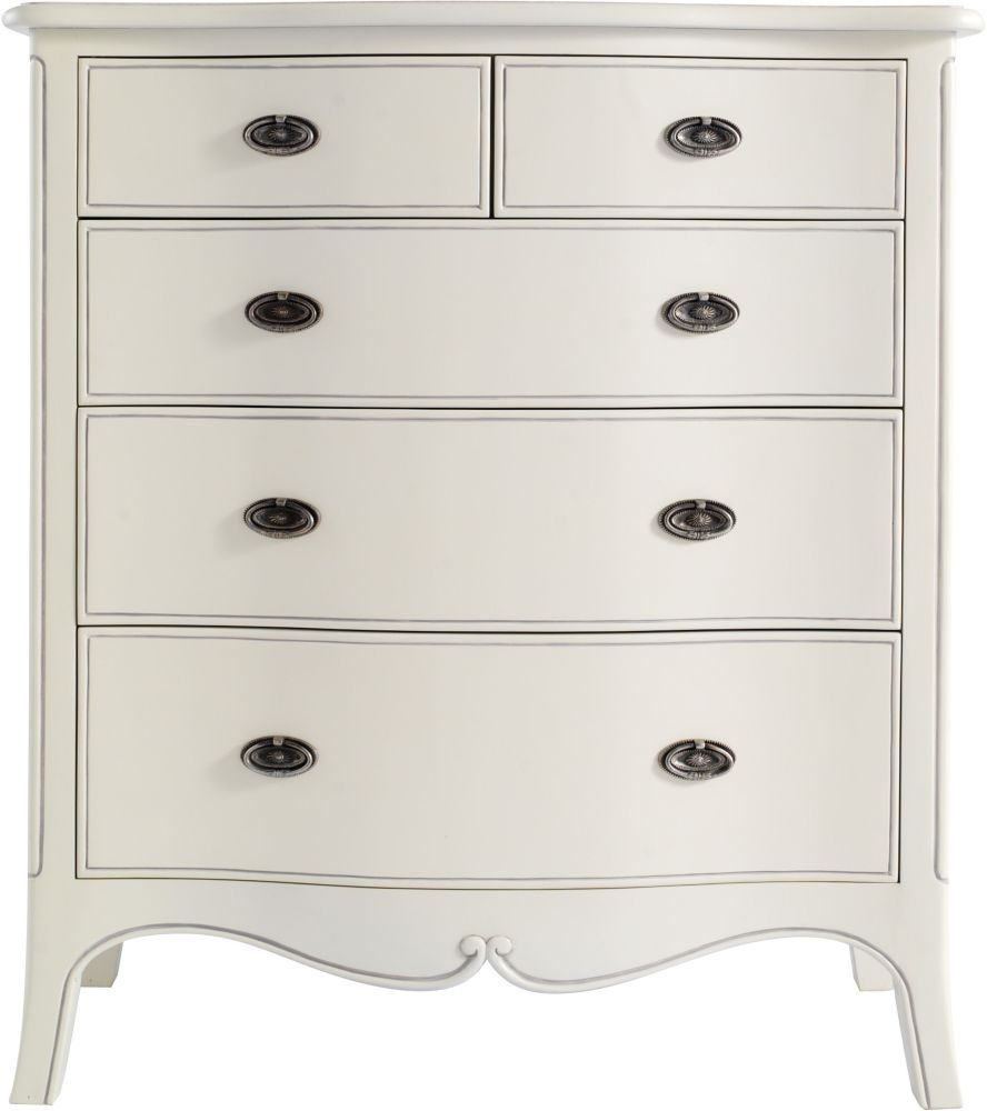 Rose Ivory 5 Chest of Drawer