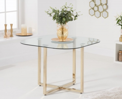 Mark Harris Abingdon Glass and Gold Dining Table