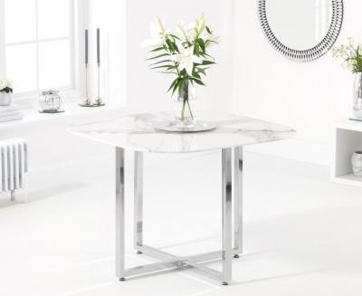Mark Harris Abingdon White Marble Dining Table