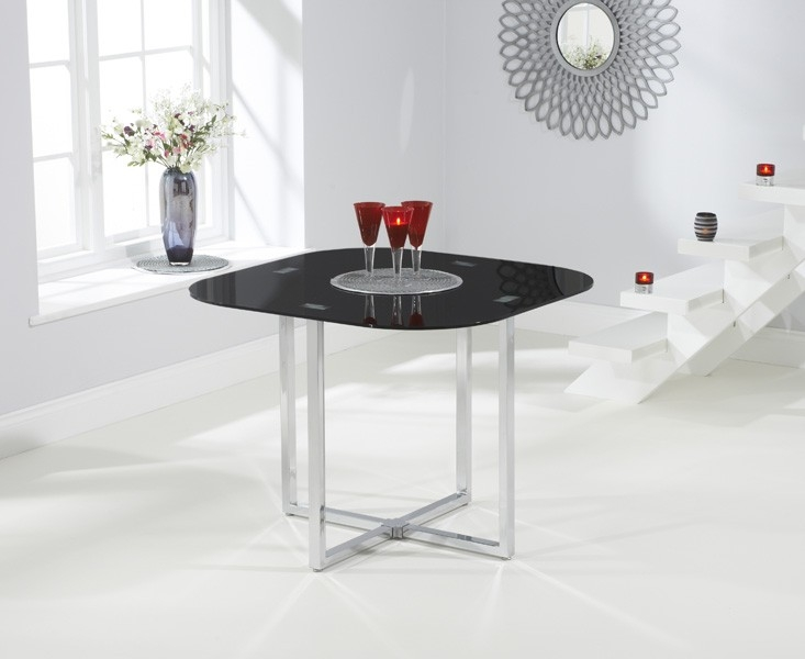 Mark Harris Abingdon Stowaway Black Dining Table - 100cm Square