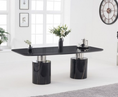 Mark Harris Adeline 220cm Black Marble Dining Table